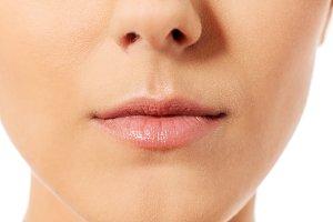 Beautiful perfect lips. Sexy mouth close up