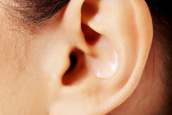 Close up photo of a female ear