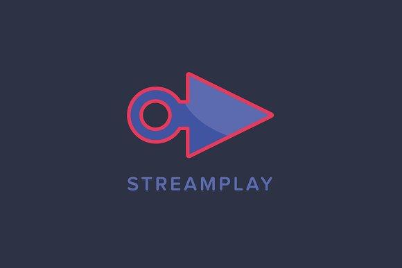 Stream Play Logo Template