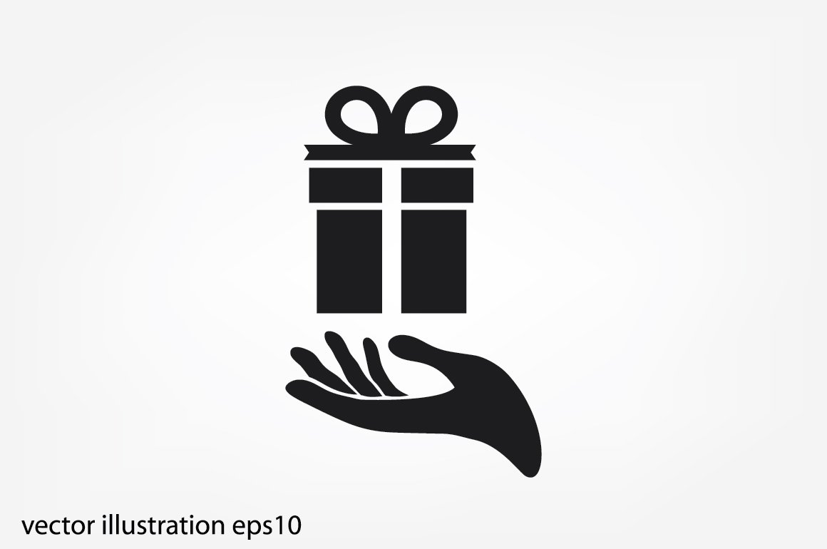 gift and hand icon ~ Icons ~ Creative Market