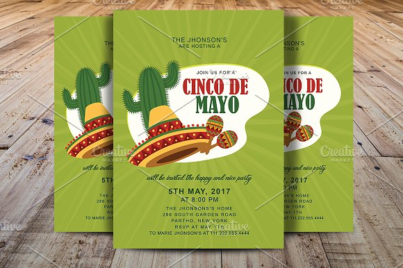 cinco de mayo invitation flyer invitation templates creative