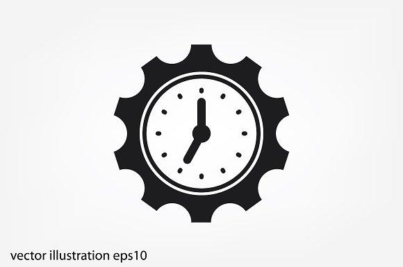 Gear Clock Time Icon