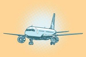 Landing of a passenger plane