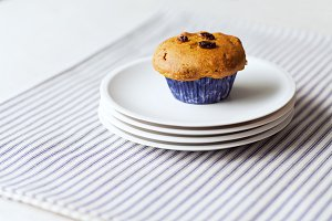 Gluten-free Pumpkin Raisin Muffin