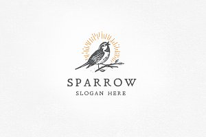 Sparrow Logo Template