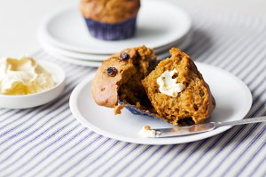 Fresh from the oven- Pumpkin Muffins