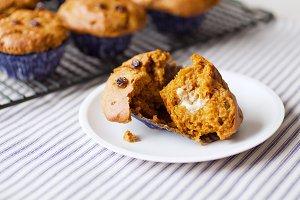 Pumpkin Raisin muffins - Gluten Free