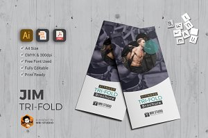 Simple GYM Tri-Fold Brochure