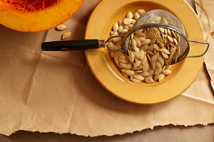 Preparing Fresh Pumpkin Seeds