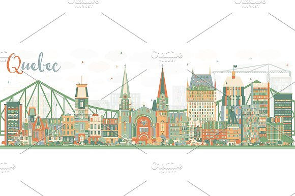 Abstract Quebec Skyline