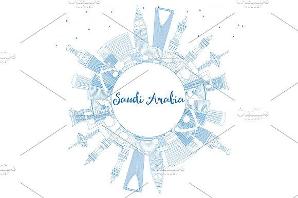Outline Saudi Arabia Skyline