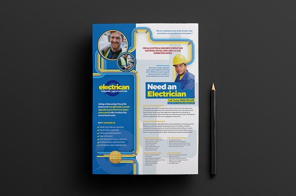A4 Electrician Poster Template V2