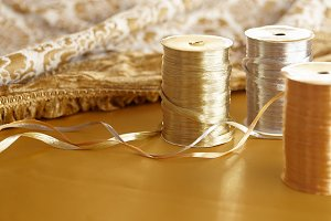 Holiday Theme -Glitzy Raffia Ribbon