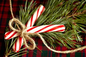 Holiday Candy Cane Decor