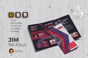 Creative GYM Tri-Fold Brochure