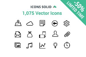 ☆ 1,075 Vector Icons -25%