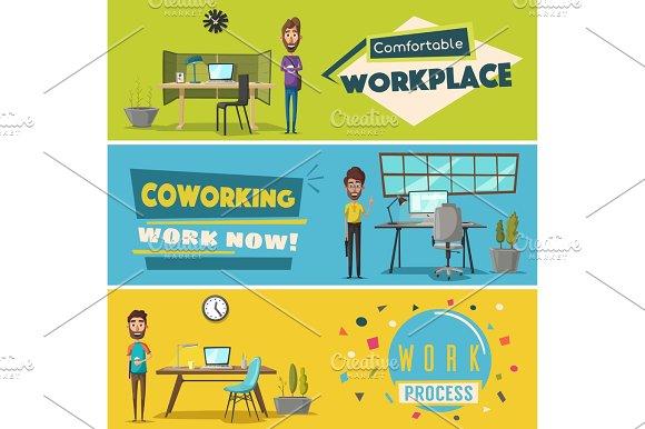 Modern workplaces.
