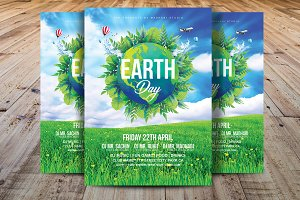 Earth Day Flyer Template