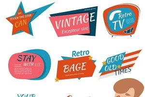 Vintage Style Retro Badges & Emblems