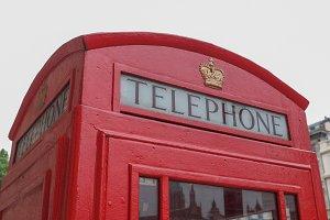 London telephone box