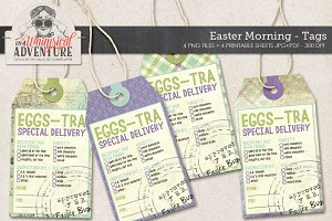 Easter Eggs-tra Delivery Tags
