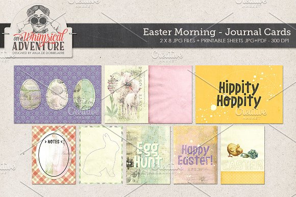 Easter Morning Journal Card-Graphicriver中文最全的素材分享平台