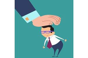 good worker boss praises businessman