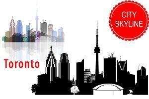 Toronto vector skyline