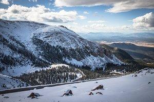 Winter on Pike's Peak Mountain Top