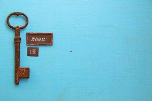 fitness is life idea