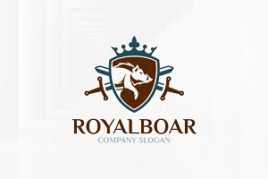 Royal Boar Logo Template