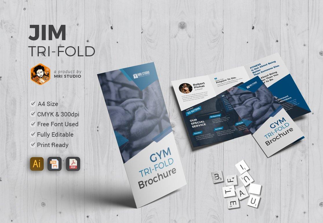 gym trifold brochure brochure templates creative market