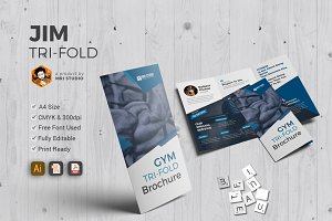 Creative GYM Tri-Fold Template