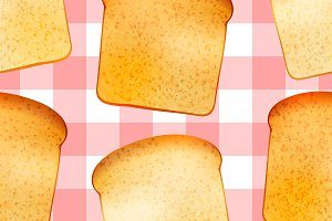 Tasty toasts, seamless pattern