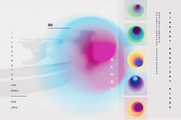 Vibrant gradient blurs