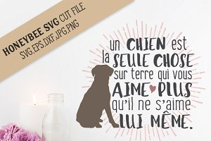 French Puppy Love cut file