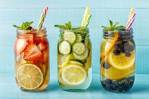 Detox fruit infused water