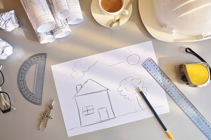 Concept of construction of new house