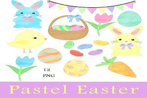 Pastel Easter Clip Art