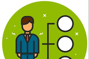 Pictograph of businessman