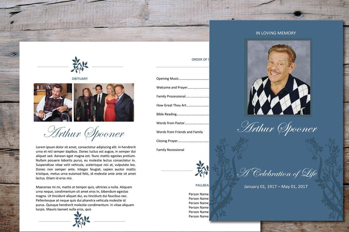 Elegant Funeral Program Template Stationery Templates Creative
