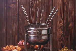 The cheese fondue