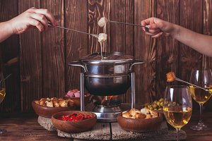 The cheese fondue