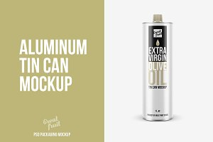 Aluminum Tube TIN CAN PSD Mockup