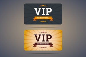 Vip club card design