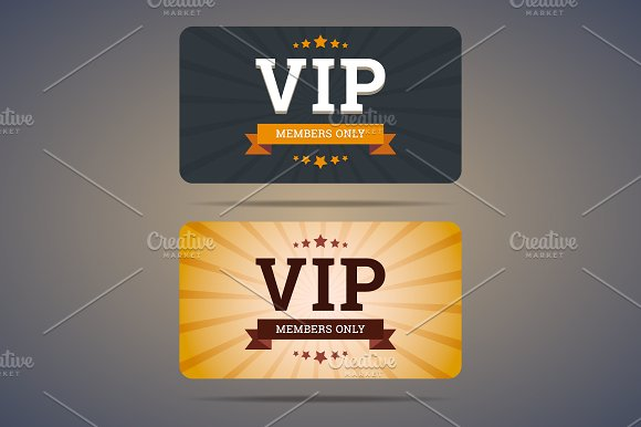 Vip club card design Illustrations Creative Market – Club Card Design