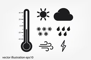 weather set icons