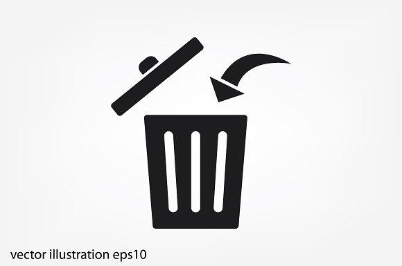 Trash Bin Icon Vector Icons Creative Market