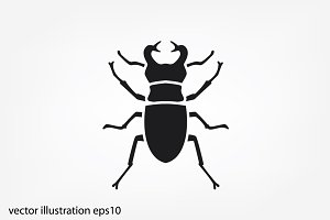 stag-beetle icon