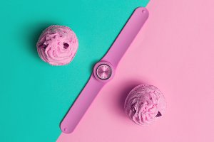 Accessory Watch. Pink trend.